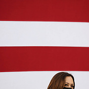 RALEIGH, NC - SEPT 28: United States Senator and Democratic Vice Presidential nominee, Kamala Harris takes part in a discussion forum outside of Whites Barber and Beauty Shop in  Raleigh, NC on September 28, 2020. This is the first time Senator Harris has been able to visit North Carolina since being named the vice presidental nominee. As the 2020 presidential election nears, North Carolina will be a must-have state for either candidate.  (Photo by Logan Cyrus for AFP)