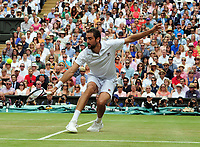 Tennis - 2017 Wimbledon Championships - Week Two, Sunday [Day Thirteen]<br /> <br /> Men Doubles Final match<br /> <br /> Marin Cilic (CRO) vs Rodger Federer (SUI)<br /> <br /> Marin Cilic on  Centre court <br /> <br /> COLORSPORT/ANDREW COWIE