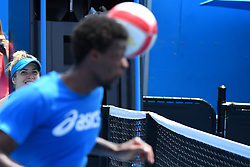 January 20, 2019 - Melbourne, AUSTRALIA - Gael Monfils and Elina Svitolina (Credit Image: © Panoramic via ZUMA Press)