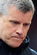 Aston Villa Manager Eric Black looks on.<br /> Barclays Premier League match, Aston Villa v AFC Bournemouth at Villa Park in Birmingham, The Midlands on Saturday 09th April 2016.<br /> Pic by Ian Smith, Andrew Orchard Sports Photography.