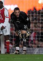 Fotball<br /> Premier League 2004/05<br /> Arsenal v Chelsea<br /> 12. desember 2004<br /> Foto: Digitalsport<br /> NORWAY ONLY<br /> Manuel Almunia, Arsenal