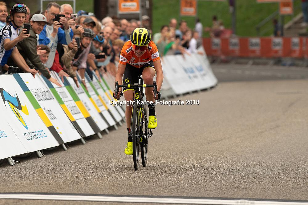 29-08-2018: Wielrennen: Ladies Tour: Nijmegen<br /> Annemiek van Vleuten wint de etappe Nijmegen - Nijmegen ondanks dat zij een verkeerde afslag nam in de finale en daarmee nog maar 10 seconden van haar voorsprong overhield