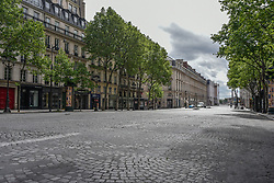 Royale street on the 43rd day of lockdown to prevent the spread of Covid-19. Paris, France on April 28, 2020. Photo by Vincent Gramain/ABACAPRESS.COM