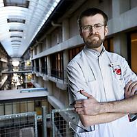 Nederland, Amsterdam , 26 februari 2014.<br /> Paul Krediet, internist, nefroloog binnen het AMC ziekenhuis.<br /> Foto:Jean-Pierre Jans