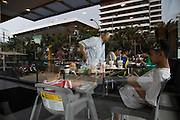 Jakarta, Indonesia 17 January 2016 : <br /> <br /> Family eating at <br /> McDonalds Restaurant. Jakarta back to normal again after the fatal attack at Starbuck Coffee at Thamrin Street. Peoples still visiting to the bombing site to take photos and condemn to the terrorist action.<br /> ©Exclusivepix Media