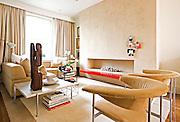 Designer Ben de Lisi, photographed in his Battersea Home..Pic show: lounge.