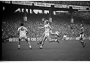 The All Ireland Senior Football Final.1982.19.09.1982.09.19.1982.19th September 1982..The senior final was contested between Offaly and Kerry. Offaly won the title by the narrowest of margins 1.15 to 17 points. Despite the attentions of Lowry(6) and O'Connor(8), Eoin Liston takes a point for Kerry.