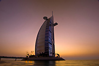 Burj Al Arab Hotel (designed to resemble a billowing sail), Dubai, United Arab Emirates