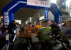 HANNOVER, GERMANY - MARCH-6-2008 - On Thursday evening more than 1,200 competitors participated in the first CeBIT Charity Run. Runners could choose between a 7 km, 14, km or 21 km (half-marathon) run. (Photo © Jock Fistick)