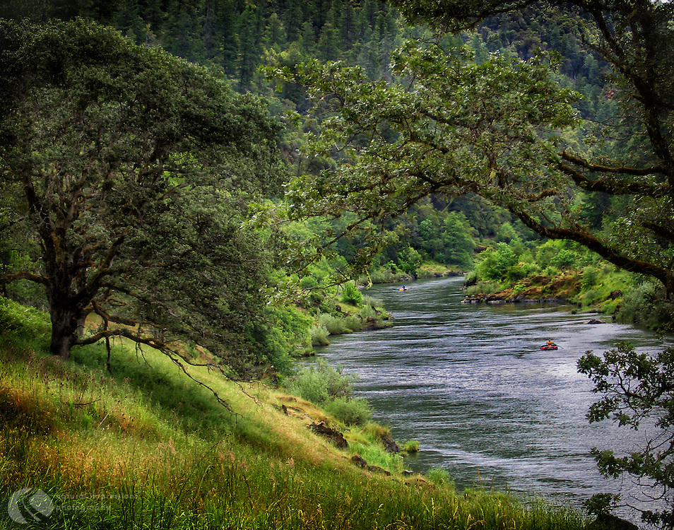 Whether you hike along its banks, raft or fish down its waters, the Rogue River in Southern Oregon is one of the states most beautiful.  It dumps into the Pacific Ocean near Gold Beach.