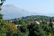 View across Zrnovo, island of Korcula, Croatia