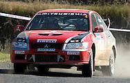 Ed Ordynski & Iain Stewart.mitsubishi lancer evo VII.2003 Falken Rally of Queensland.Imbul State Forest, QLD.13th-15th of June 2003 .(C) Joel Strickland Photographics
