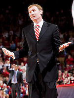 FAYETTEVILLE, AR - DECEMBER 30:   Head Coach John Pelphrey of the Arkansas Razorbacks reacts to a call during their game against the Oklahoma Sooners at Bud Walton Arena on December 30, 2008 in Fayetteville, Arkansas.  The Razorbacks defeated the Sooners 96-88.  (Photo by Wesley Hitt/Getty Images) *** Local Caption *** John PelphreyUniversity of Arkansas Razorback Men's and Women's athletes action photos during the 2008-2009 season in Fayetteville, Arkansas....©Wesley Hitt.All Rights Reserved.501-258-0920.