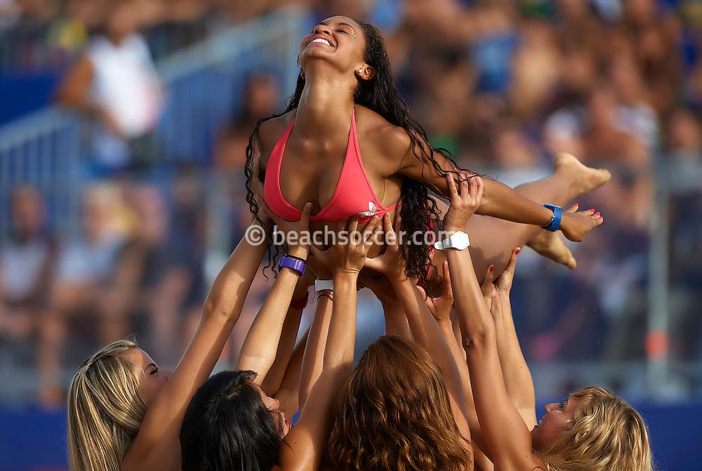 RAVENNA, ITALY - SEPTEMBER 03: FIFA Beach Soccer World Cup at the Stadium del Mare on September 3, 2011 in Ravenna, Italy. (Photo by Manuel Queimadelos)