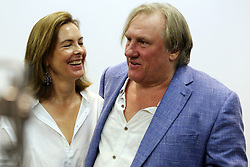 Gerard Depardieu and Carol Bouquet in Taormina. 28 Jul 2017 Pictured: Gerard Depardieu and Carol Bouquet. Photo credit: Vincenzo Aloisi / MEGA TheMegaAgency.com +1 888 505 6342