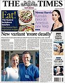 January 23, 2021 (UK): Front-page: Today's Newspapers In United Kingdom