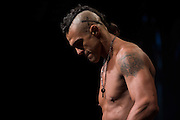 """Vitor """"The Phenom"""" Belfort weighs in during the official UFC 187 weigh-in event at the MGM Grand in Las Vegas, Nevada on May 22, 2015. (Cooper Neill)"""