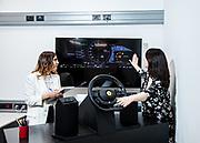 Maranello, Ferrari HMI, Dora Serritiello and<br /> Francesca Randone<br /> investigate how drivers<br /> interact with the steering<br /> wheel.