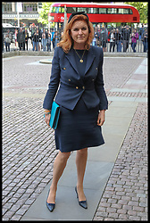 June 7, 2017 - London, London, United Kingdom - Image ©Licensed to i-Images Picture Agency. 07/06/2017. London, United Kingdom. Ronnie Corbett Service. .Sarah Ferguson Duchess of York, Duchess of York arrives for Service of Thanksgiving for the Life and Work of Ronnie Corbett at Westminster Abbey, London..Picture by Dinendra Haria / i-Images (Credit Image: © Dinendra Haria/i-Images via ZUMA Press)