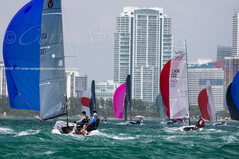 Viper 640 Class 243 sailing at Bacardi Miami Sailing Week.