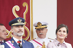 May 26, 2018 - Logrono, La Rioja, Spain - King Felipe VI of Spain, Queen Letizia of Spain attended the Armed Forces Day Homage on May 26, 2018 in Logrono, La Rioja, Spain (Credit Image: © Jack Abuin via ZUMA Wire)