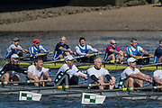 Mortlake/Chiswick, GREATER LONDON. United Kingdom. foreground, Bewl Bridge Rowing Club/Peterborough City Rowing Club, MasD.8+, competing in the 2017 Vesta Veterans Head of the River Race, The Championship Course, Putney to Mortlake on the River Thames.<br /> <br /> <br /> Sunday  26/03/2017<br /> <br /> [Mandatory Credit; Peter SPURRIER/Intersport Images]