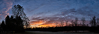 Autumn Backyard Sunrise Panorama. Composite of nine images taken with a Leica CL camera and 18 mm f/2.8 lens (ISO 200, 18 mm, f/11, 1/60 sec). Raw images processed with Capture One Pro and the composite created using AutoPano Giga Pro.
