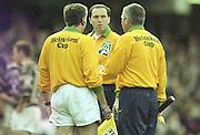 Watford. Great Britain. <br /> Game Officials. <br /> Heineken Cup Semi Final; Gloucester Rugby vs Leicester Tigers. Vicarage Road Stadium, Hertfordshire.England.  <br /> <br /> [Mandatory Credit, Peter Spurrier/ Intersport Images].