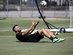 July 23, 2018 - Carson, California, U.S - AC Milan goalie ANTONIO CONTE in a training session at StubHub Center in Carson. AC Milan will play an international Champions Cup match against Manchester United on July 25 in Carson. (Credit Image: © Ringo Chiu via ZUMA Wire)