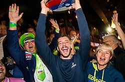 Goran Dragic of Slovenia celebrates at Fans' reception of Team Slovenia after the basketball match between National Teams of Slovenia and Greece at Day 4 of the FIBA EuroBasket 2017  in Teerenpeli bar, Helsinki, Finland on September 3, 2017. Photo by Vid Ponikvar / Sportida