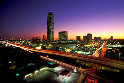 Stock photo of Williams Tower and Galleria Area Houston Skyline at Night