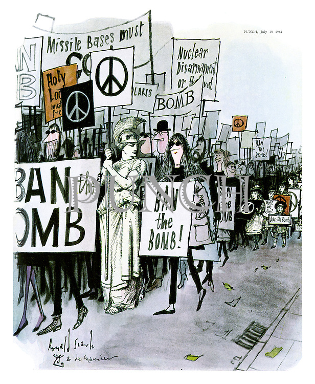 The Ban the Bomb march
