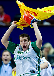 Goran Dragic (11) of Slovenia during the EuroBasket 2009 Semi-final match between Slovenia and Serbia, on September 19, 2009, in Arena Spodek, Katowice, Poland. Serbia won after overtime 96:92.  (Photo by Vid Ponikvar / Sportida)