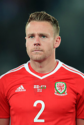 Wales' Chris Gunter during the 2018 FIFA World Cup Qualifying, Group D match at the Boris Paichadze Dinamo Arena, Tbilisi. PRESS ASSOCIATION Photo. Picture date: Friday October 6, 2017. See PA story SOCCER Georgia. Photo credit should read: Tim Goode/PA Wire. RESTRICTIONS: Editorial use only, No commercial use without prior permission.