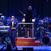 "WASHINGTON, DC - March 28th, 2014 - Rapper Nas performs his classic debut album Illmatic with the National Symphony Orchestra at the Kennedy Center in Washington, D.C. The performance was part of the ""One Mic: Hip-Hop Culture Worldwide"" festival. (Photo by Kyle Gustafson / For The Washington Post)"