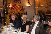 PRINCE ANDREW; MRS. HOWARD BARCLAY; SIR DAVID TANG, Chinese New Year dinner given by Sir David Tang. China Tang. Park Lane. London. 4 February 2013.