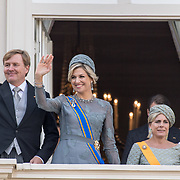 NLD/Den Haag/20170919 - Prinsjesdag 2017, Koningin Willem Alexander en Konigin Maxima en Prinses Laurentien