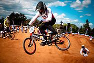 Axel Keller (SUI) practices during the UCI BMX Supercross World Cup, Pietermaritzburg, 2011