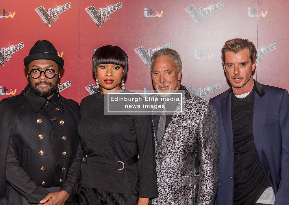 will.i.am, Jennifer Hudson, Tom Jones, Gavin Rossdale at<br /> The Voice UK, red carpet, Manchester<br /> <br /> (c) John Baguley | Edinburgh Elite media