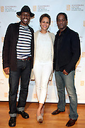 May 7, 2012- New York, NY United States: - (L-R) Cast members of A Street Car Named Desire:- Actor Wood Harris, Actress Nicole Ari Parker, and Blair Underwood attend the post reception for Theater Talks at the Schomburg: A Streetcar Named Desire held at the Schomburg Center for Research in Black Culture, part of the New York Public Library on May 7, 2012 in Harlem Village, New York City. The Schomburg Center for Research in Black Culture, a research unit of The New York Public Library, is generally recognized as one of the leading institutions of its kind in the world. For over 80 years the Center has collected, preserved, and provided access to materials documenting black life, and promoted the study and interpretation of the history and culture of peoples of African descent.  (Photo by Terrence Jennings) .