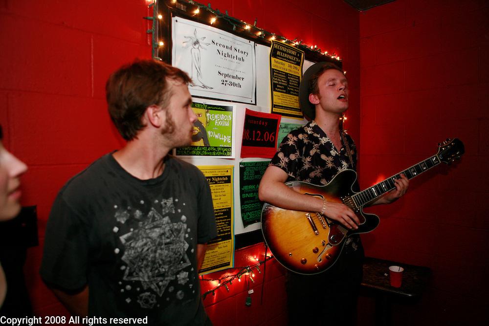 Swedish pop singer songwriter Jens Lekman performs at Second Story Nightclub in Bloomington, Indiana.