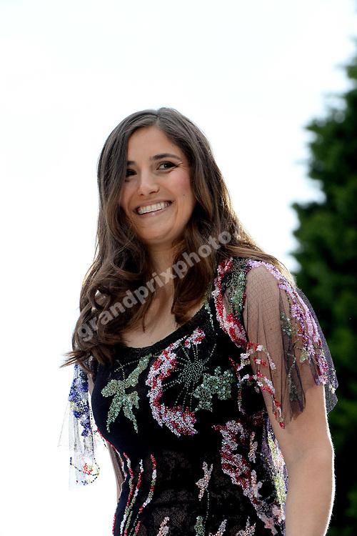 Tatiana Calderon (Alfa Romeo-Ferrari) at Amber Lounge fashion show before the 2019 Monaco Grand Prix. Photo: Grand Prix Photo