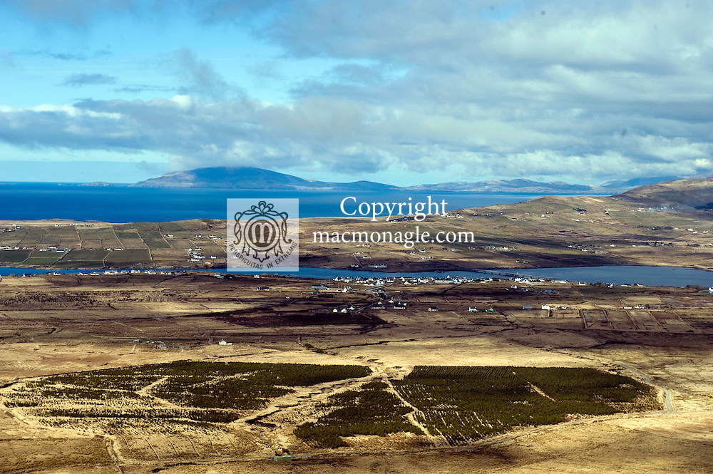 Portmagee village viewed from Coomanaspig near Ballinskelligs, County Kerry..Picture by Don MacMonagle