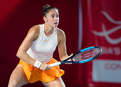 October 9, 2018 - Sara Sorribes Tormo of Spain in action during her first-round match at the 2018 Prudential Hong Kong Tennis Open WTA International tennis tournament (Credit Image: © AFP7 via ZUMA Wire)