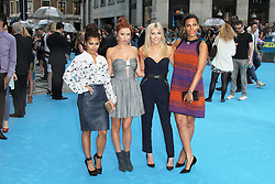 © Licensed to London News Pictures. 14/08/2013, UK. Vanessa White; Una Healy;  Mollie King; Rochelle Humes; The Saturdays,  We're The Millers UK film premiere, Odeon West End cinema Leicester Square, London UK, 14 August 2013. Photo credit : Richard Goldschmidt/Piqtured/LNP