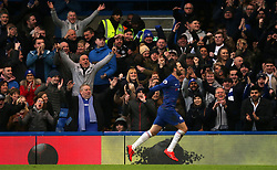 Chelsea's Gonzalo Higuain (right) celebrates scoring his side's first goal of the game