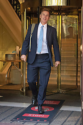 © Licensed to London News Pictures. 02/09/2020. London, UK. Former Health Secretary Jeremy Hunt departs television studios near Parliament after appearing on Kay Burley at Breakfast. Photo credit: George Cracknell Wright/LNP
