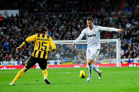 20120128: MADRID, SPAIN - Santiago bernabeu Stadium. Madrid. Spain. Football match between Real Madrid CF and  Real Zaragoza. BBVA League. In picture Cristiano Ronaldo<br /> PHOTO: CITYFILES