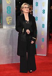 Meryl Streep attending the EE British Academy Film Awards held at the Royal Albert Hall, Kensington Gore, Kensington, London. Picture date: Sunday February 12, 2017. Photo credit should read: Doug Peters/ EMPICS Entertainment