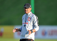 ARLAMOW, POLAND - MAY 30: Adam Nawalka, Manager of Poland during a training session of the Polish national team at Arlamow Hotel during the second phase of preparation for the 2018 FIFA World Cup Russia on May 30, 2018 in Arlamow, Poland. MB Media